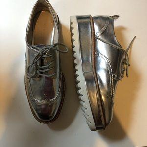 Zara platform oxfords